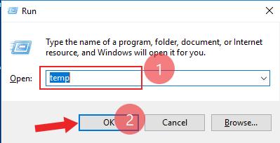how to delete temp file