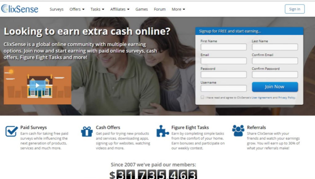 how to earn money from clixsense in india