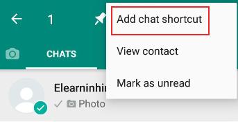 whatsapp contact ko shorcut kaise banaye