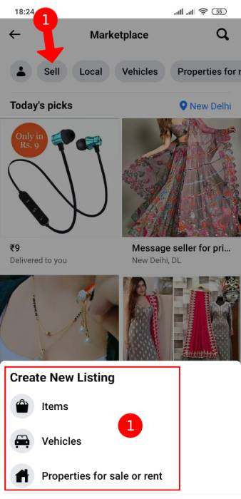 fb me products kaise beche