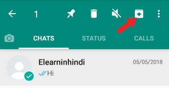 how to hide chat on whatsapp
