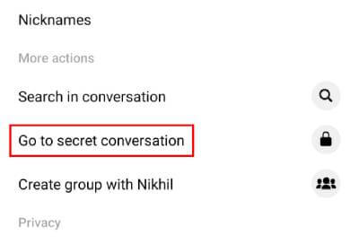 facebook secret chat in hindi
