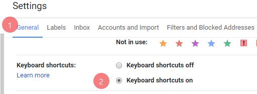 gmail shortcuts key 2018