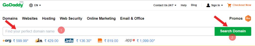 domain name kaise buy kare 2018