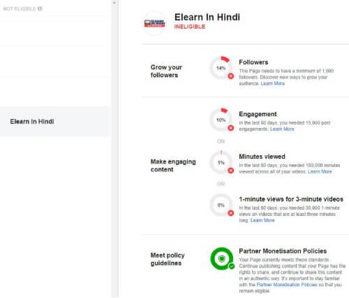 Check Facebook Video Monetization Eligibility hindi