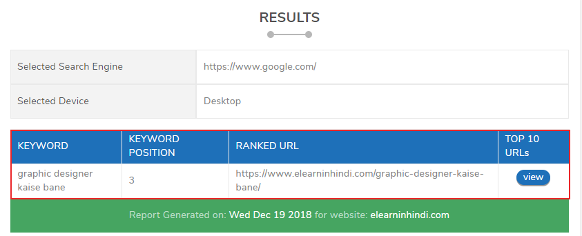 Goole keyword ranking kaise check kare 2020
