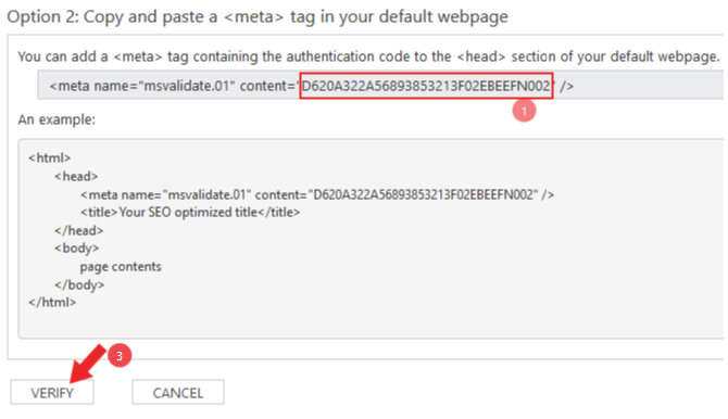 how to add website to bing webmaster tools in hindi