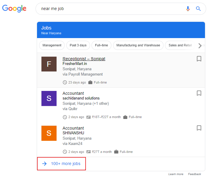 google se job kaise find kare